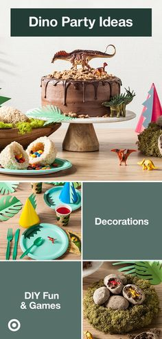 Make their dinosaur birthday party enormous fun with these decorations, games & cake ideas.