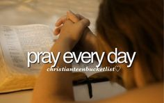 Christian Bucketlist - pray