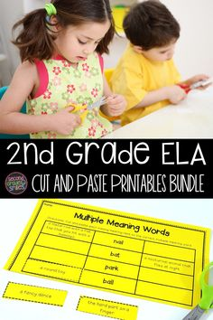 Just what you need for review or practice of compound words, homophones, multiple meaning words, synonyms, verb tenses, and abbreviations! Easy to prepare literacy centers, interactive notebook pages, or quick assessments for 2nd grade ELA. Just print and go! 2nd Grade Ela, Teaching Second Grade, Second Grade Teacher, 2nd Grade Classroom, Teaching Vocabulary, Teaching Phonics, Word Work Games, Grade 1 Reading, Language Arts Worksheets