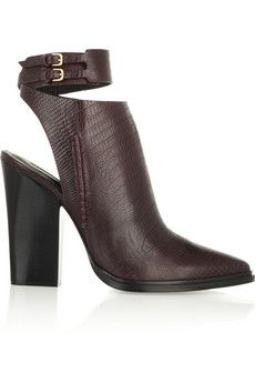 Alexander Wang Dasha lizard-effect leather ankle boots | THE OUTNET