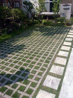 grass and brick