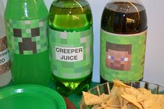 Houses, Couches, and Babies: Minecraft Themed Birthday Party