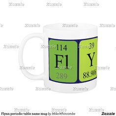 Lauren periodic table name keyring silver colored square key ring flynn periodic table name mug urtaz Choice Image