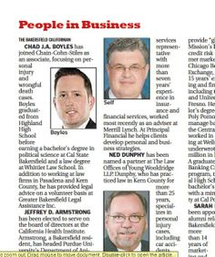 CCS associate #attorney Chad J.A. Boyles is introduced to #Bakersfield in The Bakersfield Californian as the newest addition to the CCS family.