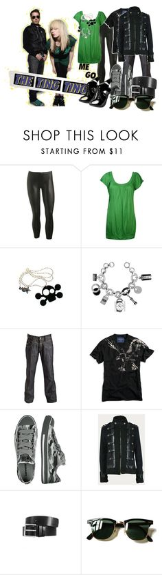 """""""shut up n let me go"""" by mhayie1 ❤ liked on Polyvore featuring Wet Seal, Punky Pins, DKNY, Crafted, American Eagle Outfitters, Converse, Gucci, Ray-Ban and the ting tings"""