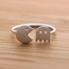Pac man and ghost ring