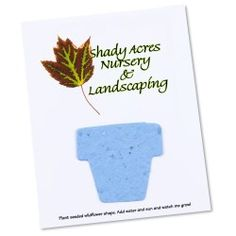 Seeded Paper Shapes Mailer/Postcard 4 x 5 Flower Pot Buy Seeds, Seed Paper, Grow Kit, Flower Pots, Flowers, Seed Packets, Lawn And Garden, Amazing Gardens, Shapes