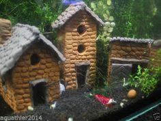 Aqua-Turm-Hoehle-Dekoration-Ton-Garnelen-Fische-Krebse-Aquarium