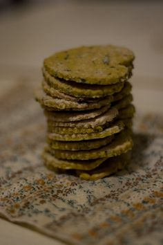 Gluten free vegan spiced chickpea crackers