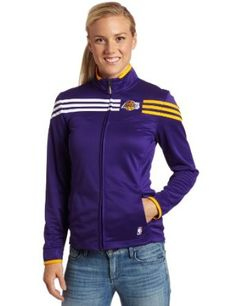 950a1d18ccb71 Amazon.com   NBA Women s Los Angeles Lakers On-Court Track Jacket (Purple