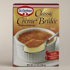 One of my favorite discoveries at WorldMarket.com: Dr. Oetker Creme Brulee
