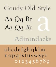 Goudy Old Style is a free and usable system font. See this specimen, sample for it's style. Selection: www.rotterdam-vormgeving.nl
