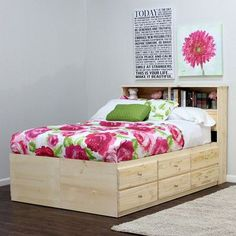 Gothic Cabinet Craft - Full Storage Bed with 10 Drawers | Bedrooms ...
