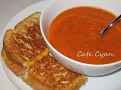 Tomato Basil Soup... to die for.    1 tbsp olive oil  3 cloves garlic, minced  1 (6 oz.) can tomato paste  1 (28 oz.) can of diced or crushed tomatoes, drained  2 cups half & half, cream, 2% milk or soy creamer, heated  ¼ cup fresh basil, chopped  2 tsp sugar  1 tsp garlic powder  ¼ tsp white pepper  Salt