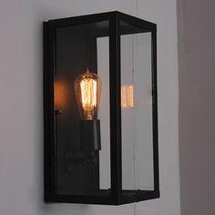 NEW VINTAGE METAL GLASS OUTDOOR VILLA GARDEN COURTYARD WALL LAMP LIGHT