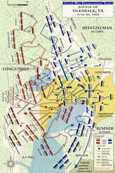 Civil War Sesquicentennial | Battle of Glendale map courtesy of the Civil War Trust.