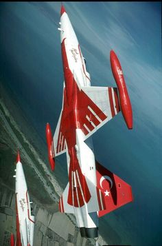 Türk Yıldızları Aircraft Parts, Fighter Aircraft, Fighter Jets, Military Jets, Military Aircraft, Air Force, Aerial Acrobatics, Air Machine, Airplane Fighter