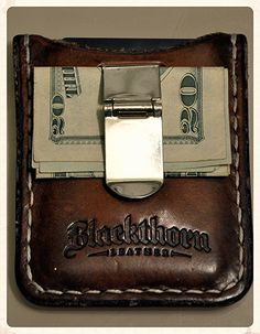 Blackthorn leather wallet from ETSY - NoGate Leather Tooling, Leather Men, Its A Mans World, Slim Wallet, Leather Projects, Leather Accessories, Leather Craft, Just In Case, Cool Stuff