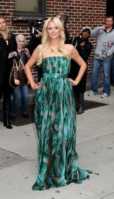 Paris Hilton visits David Letterman