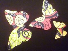papillons en wax thermocollants de Kinanoé pour customiser les vêtements