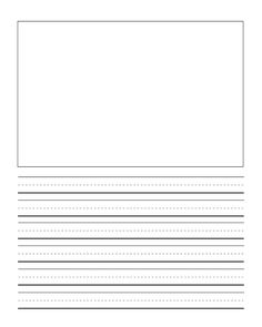 Printable Primary Writing Paper with Picture Space **Freebie**