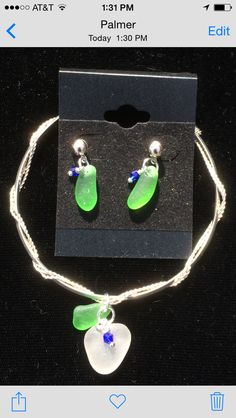 Sea glass and silver