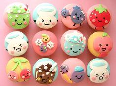 kawaii japanese candy cupcakes