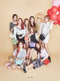 Twice in The Star Magazine Nayeon, K Pop, Kpop Girl Groups, Korean Girl Groups, Kpop Girls, Snsd, Rap Us, Oppa Gangnam Style, Twice Group