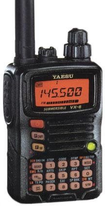 Tri-Band Yaesu VX-6R Submersible Amateur Ham Radio Transceiver