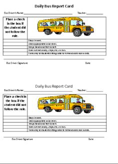Freebie! Read this post about how to implement a Daily Bus Report Card into your behavior management plan.