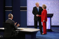 Hillary Clinton and Donald J. Trump faced off Monday night at Hofstra University in Hempstead, N.Y.