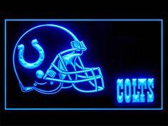Indianapolis Colts Helmet Script Football Shop Neon Light Sign