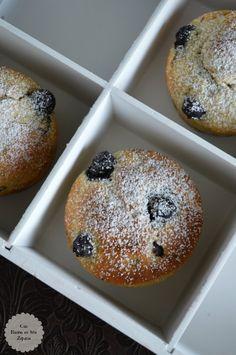 Muffins de Queso y Arándanos - Con Harina En Mis Zapatos Cupcakes, Doughnut, Breakfast, Control, Desserts, Food, Lemon Cakes, Christmas Appetizers, Cooking Recipes
