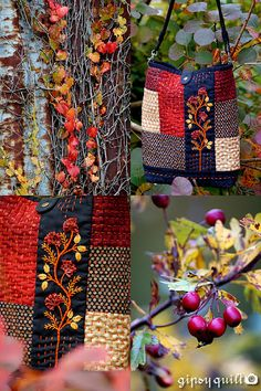 Gipsy Quilt Boxes and Cases and Bags Crazy Patchwork, Patchwork Bags, Silk Ribbon Embroidery, Hand Embroidery, Embroidery Sampler, Embroidery Stitches, Ribbon Art, Lace Ribbon, Textiles