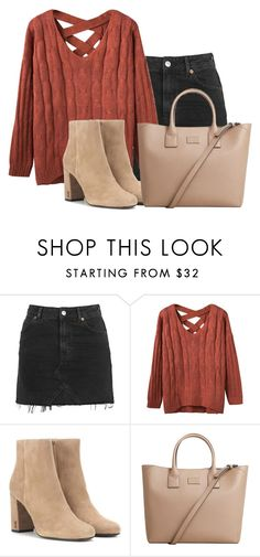 """Bez naslova #3936"" by lillyrosalie ❤ liked on Polyvore featuring Topshop, Yves Saint Laurent and MANGO"
