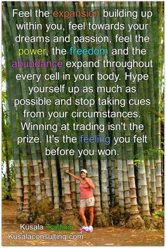 Feel the expansion building up within you, feel towards your dreams and passion, feel the power, the freedom and the abundance expand throughout every cell in your body. Hype yourself up as much as possible and stop taking cues from your circumstances. Winning at trading isn't the prize. It's the feeling you felt before you won #fxtrading #forex #trading #forextrading #tradingforex #forextrader #digitalnomads #mindset #empowerment #selfrealization #selfrealisation #fxtrader #money…