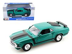 1970 Ford Mustang Boss 302 Green 124 Model Car by Maisto ** Be sure to check out this awesome product.-It is an affiliate link to Amazon. #GiftBaskets