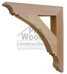 lovely shape to these corbels Porch Brackets, Wood Brackets, Shelf Brackets, Garage Design, Exterior Design, Wooden Corbels, Backyard Cottage, House Front, Woodworking Plans