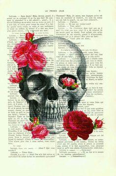Skull & roses girl wallpaper cute kawaii smartphone iphone galaxy