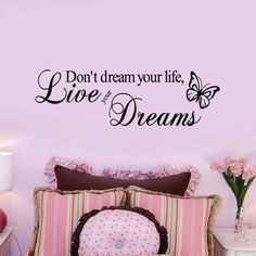 Playroom Bedroom Preschool Classroom -Now is the time for dreams Vinyl Sticker Lettering Dream Quote Wall Decal Home Decor for Living Room