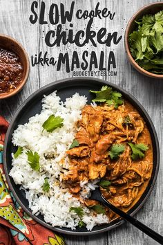 This Slow Cooker Chicken Tikka Masala boasts a rich and aromatic sauce, and tender juicy chicken. Make four servings for the price of one take out! Budgetbytes.com #slowcooker #slowcookerrecipes #slowcookerchicken #crockpot #crockpotrecipes #tikka #yummy #yummyfood #easyrecipe #easydinner