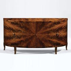 French Art Deco Demi Lune Cabinet