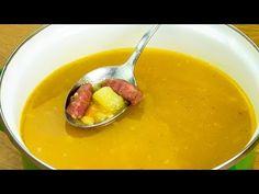 Hrášková polévka - rychlá a jemná polévka recept.| Chutný TV - YouTube Fondue, Cheese, Ethnic Recipes, Desserts, Youtube, Gazpacho, Cream Soups, Split Peas, Chickpeas
