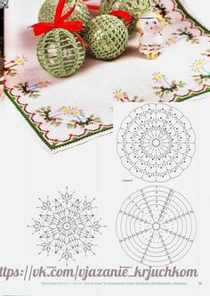 Crochet Lace to Cover a Christmas Ball - Thread with a metschematy bombek by siwabombka na Stylowi.crochet for X-Mas Crochet Christmas Decorations, Crochet Decoration, Crochet Christmas Ornaments, Christmas Crochet Patterns, Holiday Crochet, Crochet Snowflakes, Crochet Tree, Crochet Ball, Thread Crochet