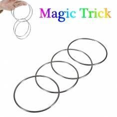 Magic Trick 4 anneaux de liaison chinois fixés pour les enfants en scène tour de magie