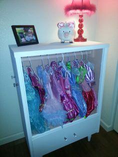 Old dresser turned into little girls dress up station!!! ♥