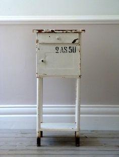 Vintage Industrial Side Table / Cabinet