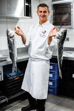 Le Chef Thierry Enderlin en cuisine