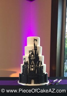Disney Villians castle wedding cake