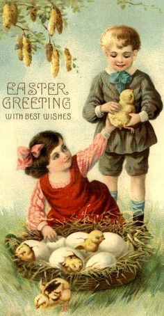 .just love seeing the vintage Easter cards
